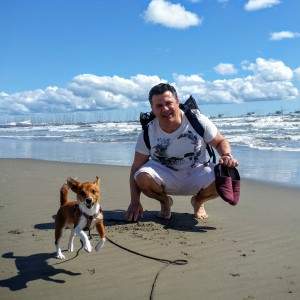 bada med hund, podengo